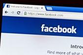 Homepage logo of Facebook.com — Stock Photo