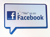 Screenshots of like us on Facebook sign — Stock Photo