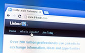 Linkedin front page on laptop screen — Stock Photo