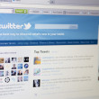 Part of Twitter.com site — Stock Photo