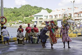 Traditional dancers in Roatan, Honduras — Stock Photo