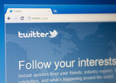 Homepage of Twitter.com. Viewed in Google Chrome browser. — Stock Photo