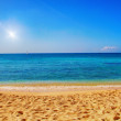 Beautiful sandy beach — Stock Photo