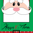 Stock Vector: Happy Christmas postcard with Santa