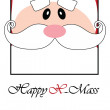 Happy Christmas postcard with Santa — Stock Vector