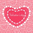 Happy valentines day cards with ornaments, hearts and ribbons — Stock Vector #39381417