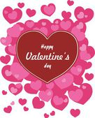 Happy valentines day cards with hearts — Vetorial Stock