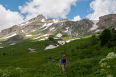 The magnificent mountain scenery of the Caucasus Nature Reserve — Stock Photo