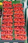 Exposição de morangos. — Foto Stock