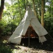 Stock Photo: Canvas Wigwam Tent.