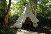 Canvas Wigwam Tent. — Stock Photo