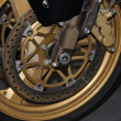 Stock Photo: Disc Brake of Motorcycle.
