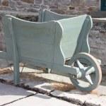 Wooden Wheelbarrow. — Stock Photo