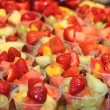 Stock Photo: Fruit Salad Desserts.
