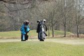 Golf Bags. — Stock Photo