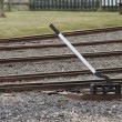 Stock Photo: Train Track Points Lever.
