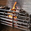 Foto Stock: Cooking Range with Fire.
