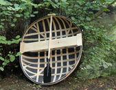Coracle Basket Boat. — Stock Photo