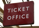 Station Ticket Office Sign. — Stock Photo