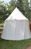 White Camping Tent. — Stock Photo