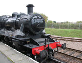 Steam Train Engine. — 图库照片