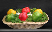 Display of Peppers. — Stock Photo