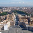 Rome from St. Peter's Basilica, Vatican — Stock Photo