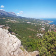 Crimean mountains landscape panorama — Stock Photo