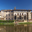 Stock Photo: Townscape of Florence. Uffizi Gallery