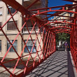 Metal bridge in Gerona — Stock Photo
