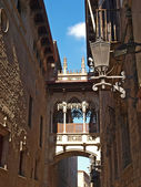 Neogothic bridge in Barcelona — Stock Photo