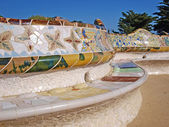 Gaudi Bench in Park Guell — Stock Photo