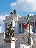 Vittorio Emanuele Monument in Rome — Stock Photo