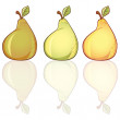 3 Pears — Stock Vector