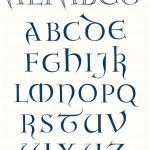 Lombardica Capital Alphabet — Stock Vector
