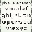 Stock Vector: Pixel Alphabet