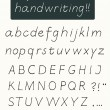 Handwriting alphabet — Stock Vector