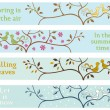 4 seasonal banners — Vector de stock #39507921