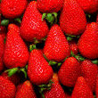 Organic fresh strawberries — Stock Photo #12497751