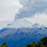 Closeup of Tungurahua Volcano eruption — Stock Photo
