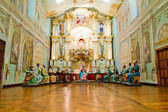 última ceia de cristo com estátuas de tamanho de vida — Foto Stock