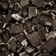 Ink cartridges background color processed sepia — Stock Photo #12558259