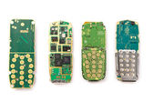Circuit Boards from a cellular phone. Close-up. — Stock Photo