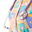 Pediatric doctor and his stethoscope — 图库照片 #12570031