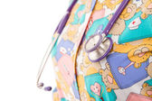 Pediatric doctor and his stethoscope — Stock Photo