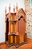 Colonial Confessional at a Christian Church — Zdjęcie stockowe