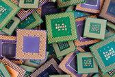 Modern CPU background processor — Stock Photo