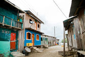 Third world neighborhood with colorful houses — Stock Photo