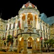 Historical Cuenca, Ecuador night long exposure - Stock Photo
