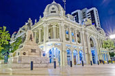 Government palace office guayaquil at night — Stock Photo